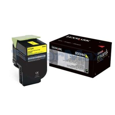 LEXMARK CX410 TONER CARTRIDGE YELLOW 3K